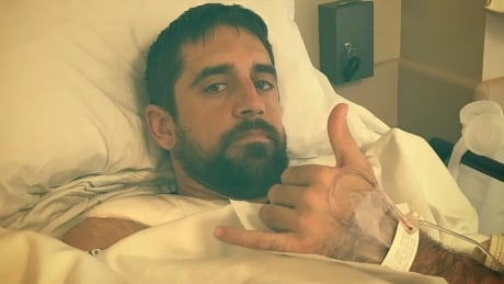 Aaron Rodgers says surgery on collarbone went well thumbnail