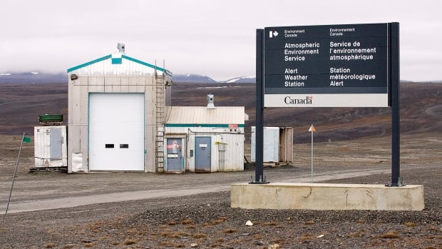 Environment and Climate Change Canada's weather station at Alert, Nunavut, is at the northeastern tip of Ellesmere island, just 817 kilometres from the North Pole. A test station there is seen in a 2006 photo.