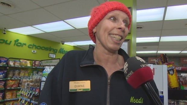 Diane Bishop continued to operate her convenience store in Mount Pearl to support her family while she had cancer treatments. After her story was published, strangers began to drop off donations at her store.