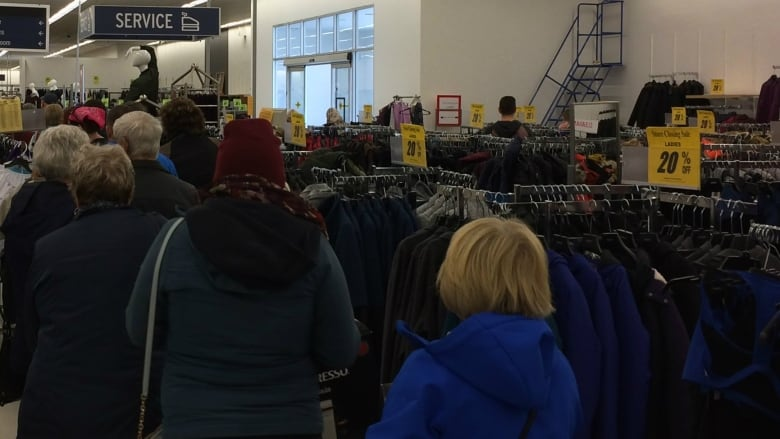 Shoppers at Sears Canada