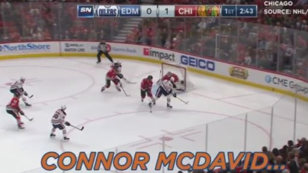 There were nine games in the NHL On Thursday night. This is the moment everyone is talking about today.