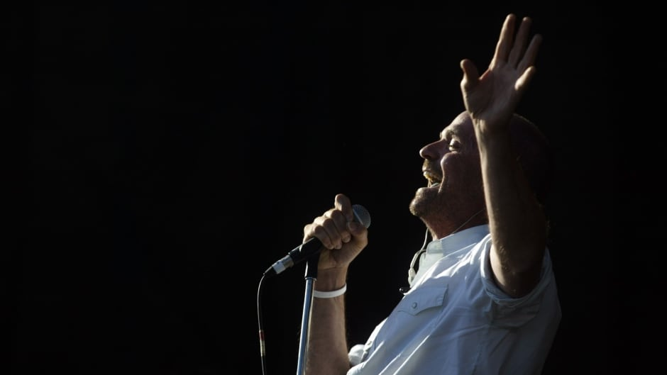 Gordon Downie of the Tragically Hip performs during the Live 8 concert on July, 2005.