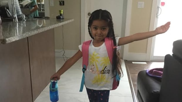 Amber Athwal at age 4, prior to her dental surgery in September, 2016.