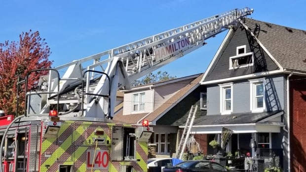 Firefighters were called about a fire in the lower city this afternoon.
