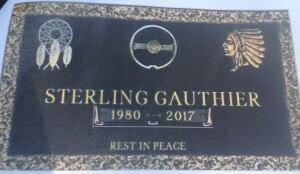 Sterling Gauthier gravestone