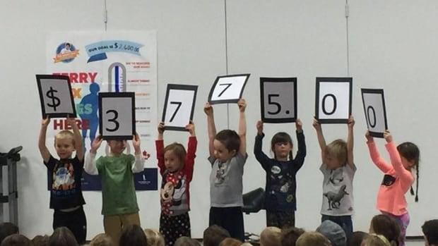 Students at Nor'wester View Public school exceed their Terry Fox fundraising goal.