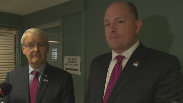 Minister of Transport Marc Garneau met with Mayor Drew Dilkens in Windsor Friday.