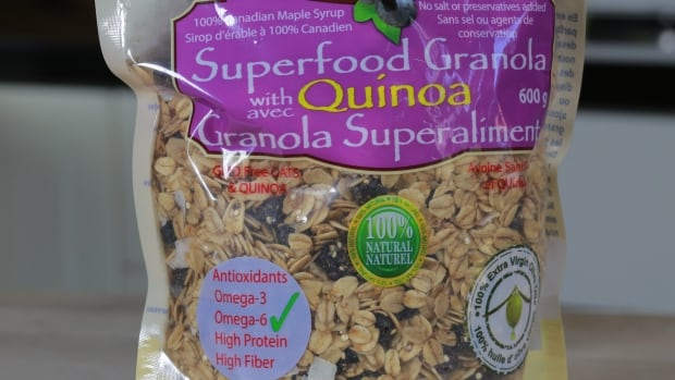 Nature's Mix, a Cambridge, Ont., company, pulled this product from stores and changed its packaging, removing some of the health claims attributed to quinoa, one of the ingredients and a grain commonly marketed as a 'superfood.'