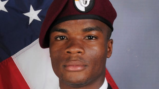 Sgt. La David Terrence Johnson, 25, was killed in an ambush in Niger, along with three other American soldiers and four from Niger. President Donald Trump is now accused of making insensitive comments to his widow, who is six months pregnant.