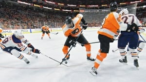 Flyers' Wayne Simmonds scores late as Oilers continue slump