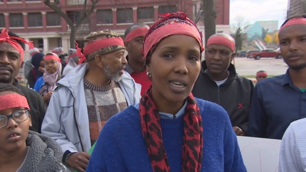 Mayran Kalah attended a vigil in Winnipeg Saturday to honour those killed in last weekend's terrorist bombing in Mogadishu, including 22 of her family members.