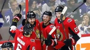 Sens flip Leafs' high-scoring script to earn 1st home win of season