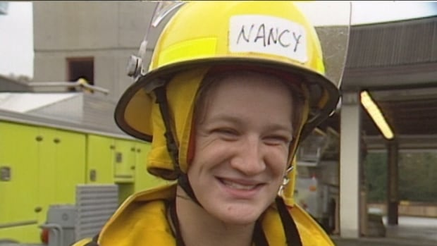 Nancy Innis, née Hieltjes, was one of two women to become the Lower Mainland's first female firefighters in 1992.