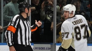 Sidney Crosby argues his way into 10-minute misconduct