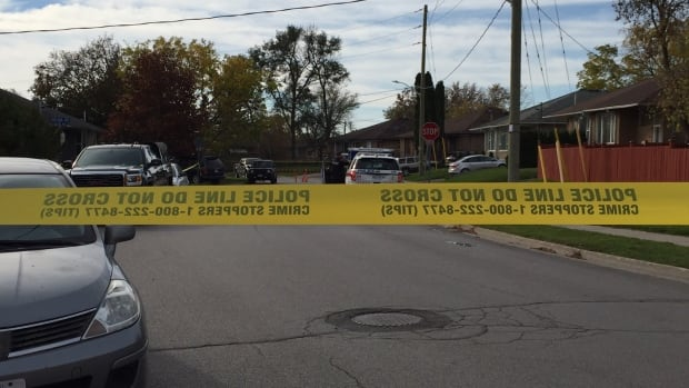 York Regional Police have taped off a street in Newmarket after a shooting at a home on Saturday night.