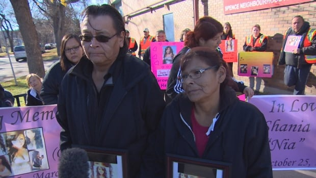Reg and Lisa Chartrand are marching with other relatives to Lake Manitoba to honour their daughter, Shania who died after being shot in Winnipeg in March.