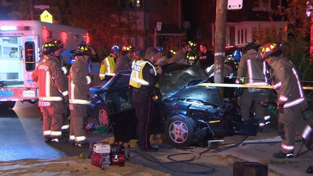 Emergency services received a call about the crash at 4:48 a.m.