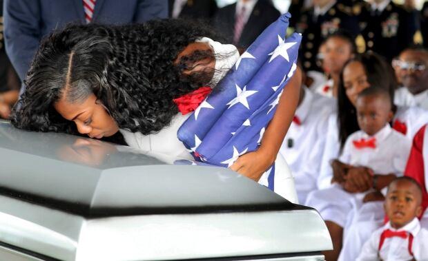 APTOPIX Trump Fallen Soldier Funeral