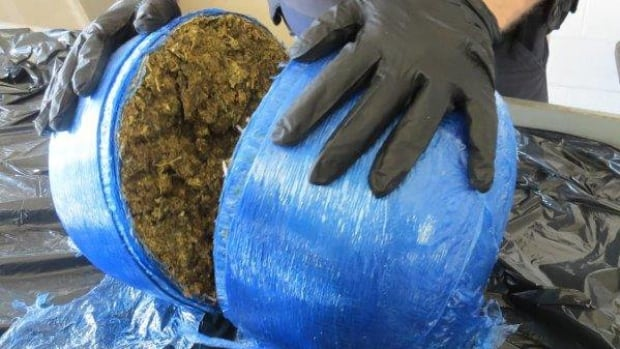 CBSA officers in Windsor found this 6.4 kg package of marijuana during a search at the Ambassador Bridge.
