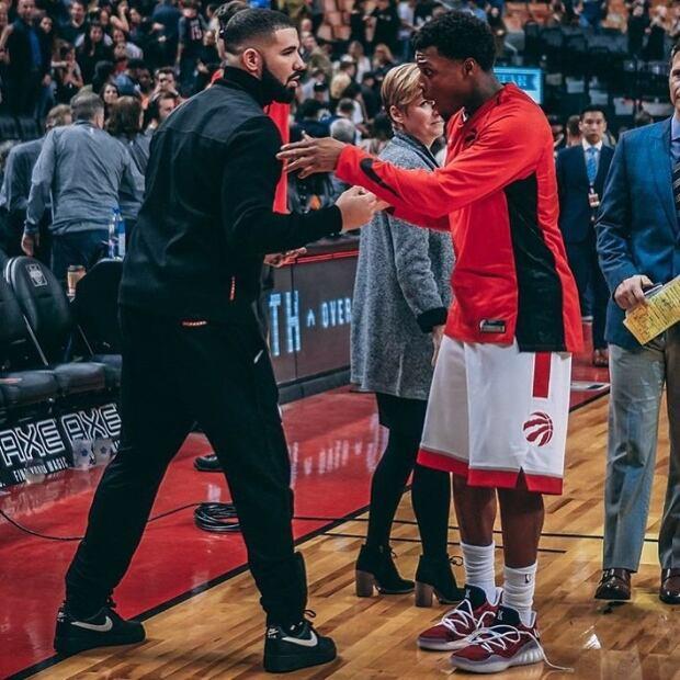 Drake at Raptors game