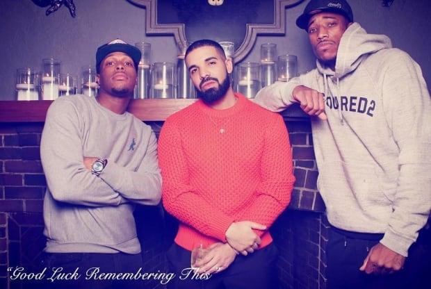 Drake, Kyle Lowry, DeMar DeRozen