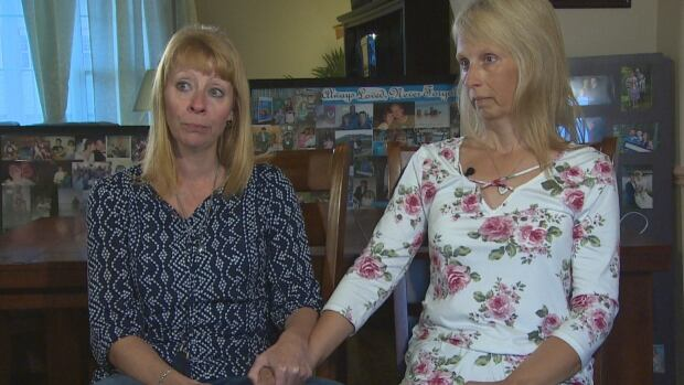 'We've always been close, but we're even closer now because of this,' said Valerie Peach, left, about her sister, Natalie Randell, right.
