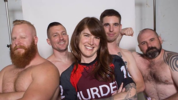 Theresa Sapergia is the first woman to join the Vancouver Murder men's roller derby squad.