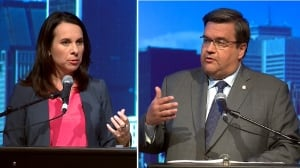 Round 2 in the Plante vs. Coderre debate: Rivals clash over dogs, taxes and transit