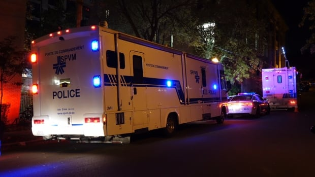 Montreal police say a body was found on Beaudry Street below Sherbrooke Street.