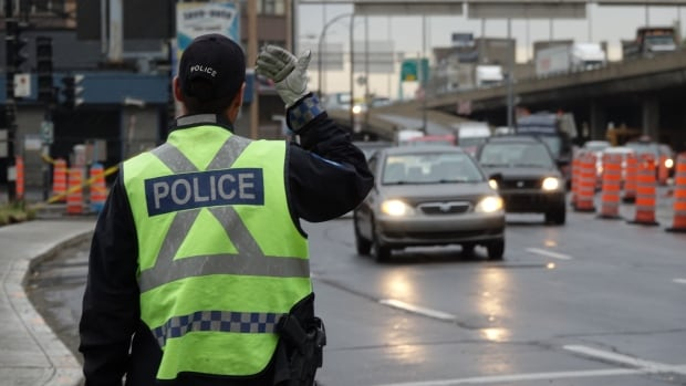 Montreal police direct traffic