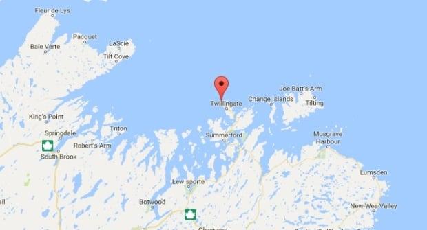 Crow Head Newfoundland map