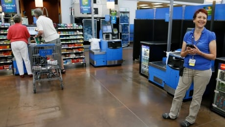 WALMART greeter self-checkout automation