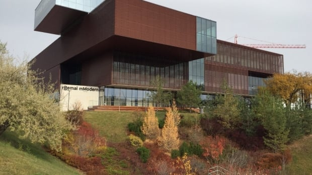 The Remai Modern art museum is photographed in downtown Saskatoon during its grand opening in October 2017.