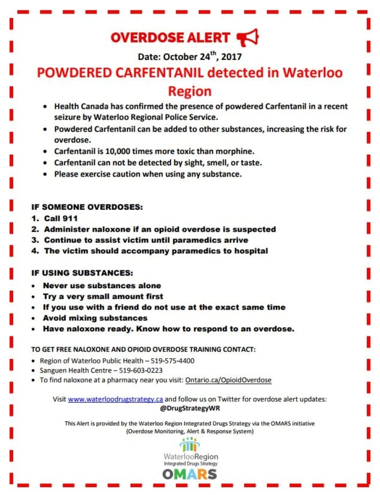 Extreme caution\' urged as powdered carfentanil found in Kitchener ...