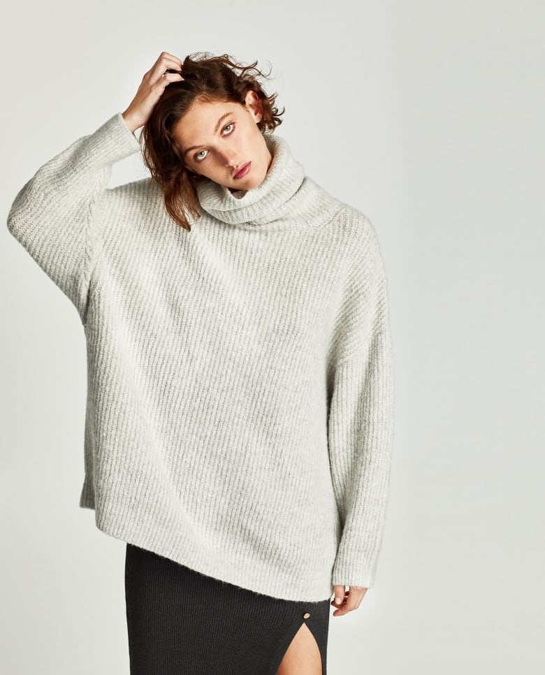 5755137729 Curl up in this soft oversized number from Zara, with an ample roll neck  and long sleeves.