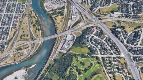 Crowchild Trail river google
