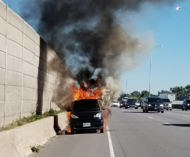 Burning smart car better