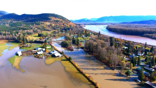 Heavy precipitation covered roads and washed out a bridge in northwest B.C.