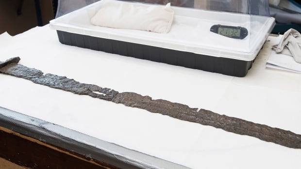 """The so-called """"Beardmore Sword"""" will be part of an exhibit at the Royal Ontario Museum in November focusing on Vikings."""