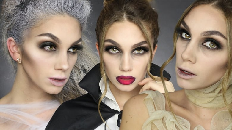 This Last Minute Halloween Makeup Tutorial Gives You 3 Instant