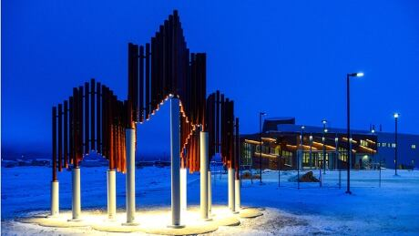 High Arctic research centre sculpture