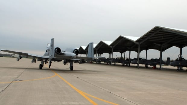 In a photo provided by the Selfridge Air National Guard, An A-10 Thunderbolt II taxis out to the runway prior to take-off  at Selfridge Air National Guard Base, Mich., Thursday, Oct. 17, 2013.