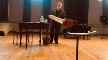 Richard Margison as Francis Rattenbury, rehearsal