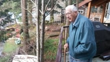 Ted Hughes at Shawnigan Lake cottage