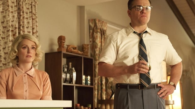 Left to right: Julianne Moore as Margaret and Matt Damon as Gardner in Suburbicon.