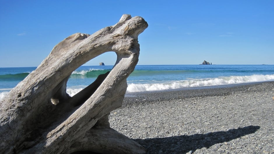 Rialto Beach, Olympic Peninsula — Robert Kull seeks complete solitude for weeks at a time.