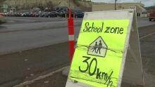 School zone speed warning