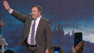 Jason Kenney celebrates win as first leader of the United Conservative Party of Alberta