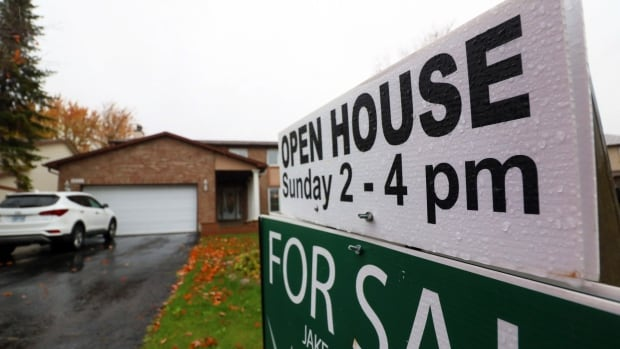 An open house is held at a home on Brookmill Lane in east Ottawa on Oct. 29, 2017.