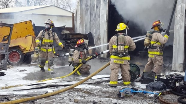 Fire crews in Petrolia spent much of Saturday afternoon fighting a structure fire.